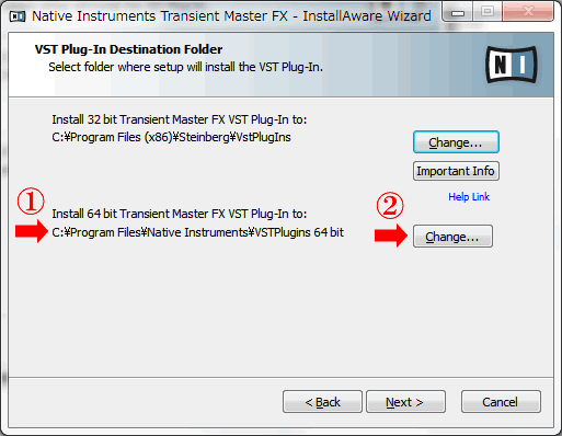 ネイティブインストゥルメントソフト64ビットインストール